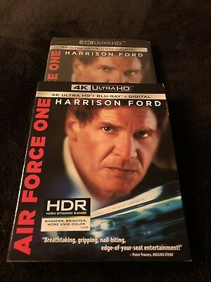 AIR FORCE ONE 4K UHD + Blu ray (2 Disc) w Slipcover No