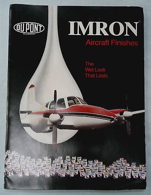 1980 Dupont Imron Paint Aircraft Finishes Cessna Grumman American Piper Colors