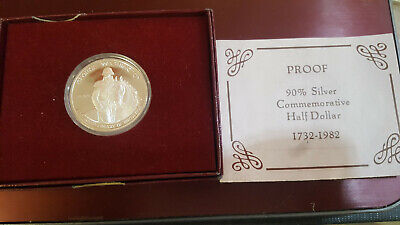 1982 George Washington 250th Birthday Commemorative Proof Silver Half Dollar LtB