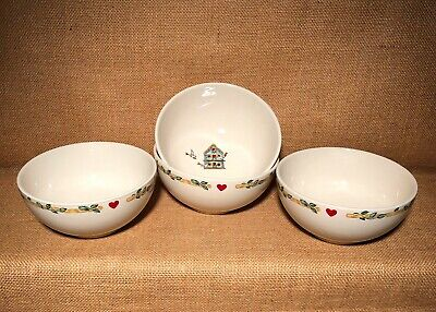 "Thomson Pottery Birdhouse 6"" Soup Bowls Set of 4 Cereal Salad More Available"