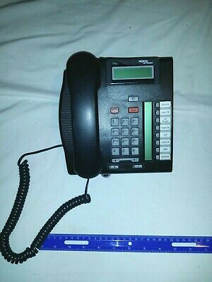 Nortel Norstar T7208 Charcoal Business Phone NT8B26AABLE6  w/ Handset & Base
