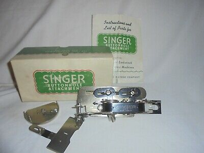 Vintage Singer Buttonhole attachment 121795 sewing machine in box