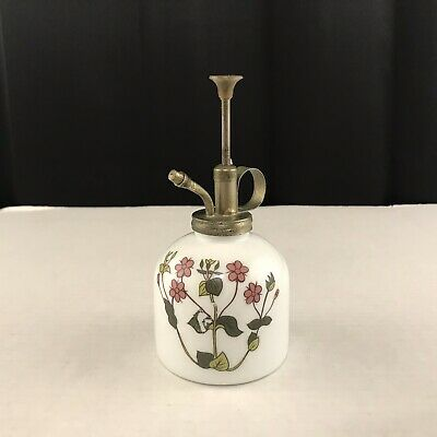 Vintage Milk Glass Hand-Painted Plant Mister Made in Taiwan Free Shipping
