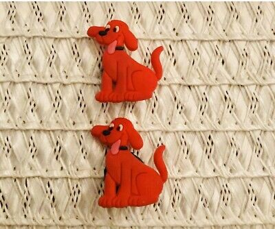 PBS Clifford The Big Red Dog Shoe Charms For Crocs