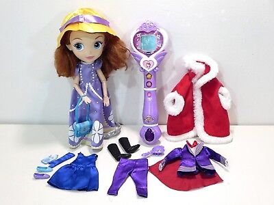 "Disney Store Sofia the First Singing Talking Doll 12"" Princess Wand from Vtech"