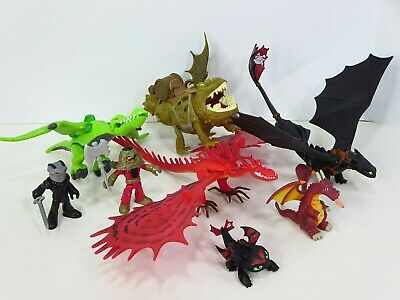 How to Train Your Dragon Defenders Berk Hookfang Grump Toothless Figures Lot