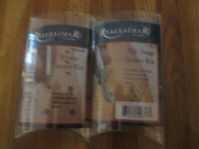2 ReaLeather Leather Eyelet and Snap Setter Kit New in pkg