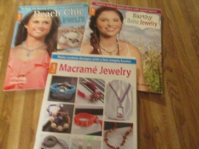 3 Craft leaflets for making jewelry Great condition