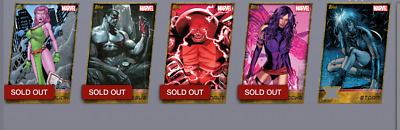 Topps Marvel Collect Card Trader X-men Weekly Wave  3 Complete Gold Die-cut Set