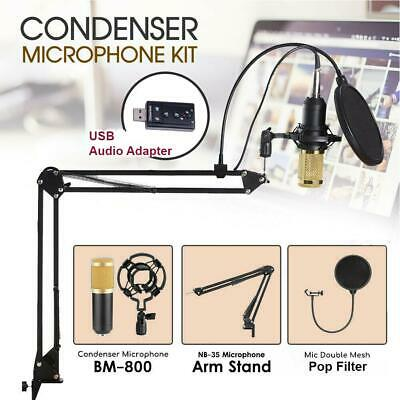 BM800 Studio Wired USB Condenser Microphone KTV Kit For Phone iphone Computer