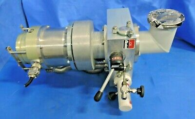 Alcatel 5150 Turbomolecular Vacuum Pump with Chamber Flange Priming Diff Valve