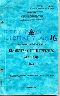 Australian Military Forces Elementary Field Defences All Arms 1969 (Obsolete)