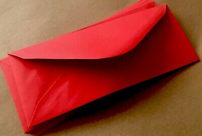 15 Money Gift Envelopes / Wallets Red Perfect Fit For £5 / £ 10 Notes