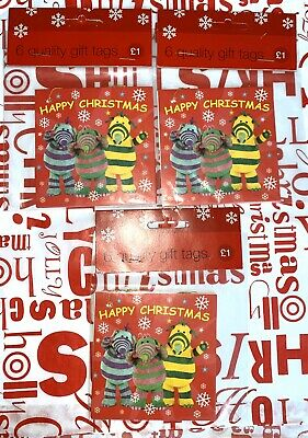 """Selection of Christmas Gift Tags """"18 Tags"""" Fimbles Design """"NEW"""""""