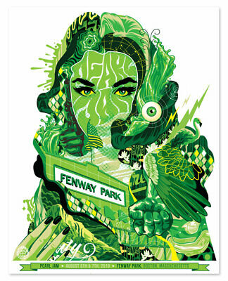 Tristan Eaton - Pearl Jam Fenway Park (Green Edition) - Print #200