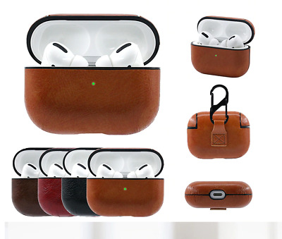 For Apple AirPods Pro Case Cover Leather Protective Keychain Hang AirPod 3 Case