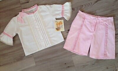 New With Tags Pretty Originals Girls Age 5 Top & Shorts Set Spanish Style Trad