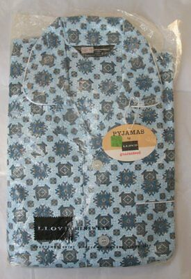 "Llloyd Menswear Pyjamas London Northern Ireland Made 40"" 102 Blue Craftsmen NOS"