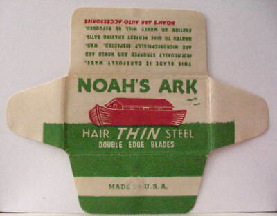 Vintage NOAH'S ARK HAIR THIN  DE Safety Razor Blade