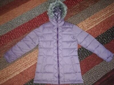 **Girls Purple Padded Mountain Warehouse Coat Size 11-12 Excellent Condition **