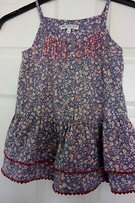 Girls Vest Top Age 7 M&S Purple Floral Sleeveless Holiday Beautiful VGC