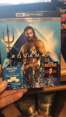 Aquaman ( 4K Ultra HD+ Bluray + Digital ) Brand New