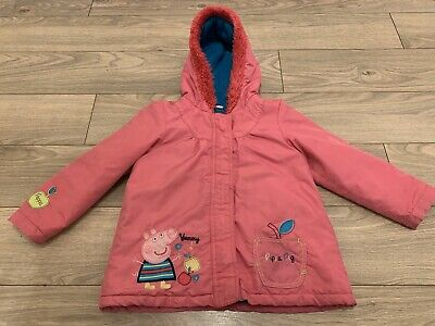 Peppa Pig Girls Pink Coat Age 5-6 From George
