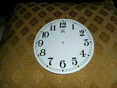 "Round HAC Paper (Card) Clock Dial - 5"" M/T - Arabic -GLOSS WHITE-  Parts/Spares"