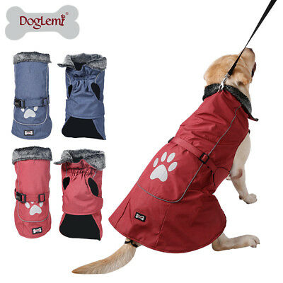 SMALL to EXTRA LARGE Dog Pet Waterproof Winter Rain Coat Warm Jacket Clothes New