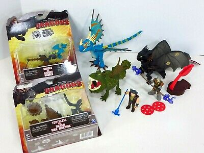 How to Train Your Dragon Lot Defenders of Berk Figure Meatlug Stormfly Toothless