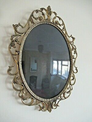 Superb Antique / Vintage Ornate Italian Photo Frame With Convex Glass