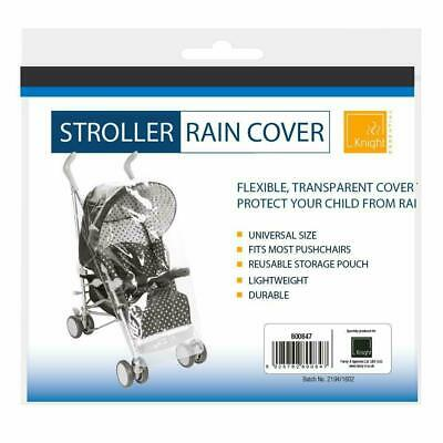 Universal Baby Pushchair Stroller Clear Rain Cover Pram Buggy Lightweight Reuse