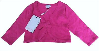 Monsoon Baby Girls Cardigan Lace Bow Candy Knitted Bolero Top Party 6-12 m £18
