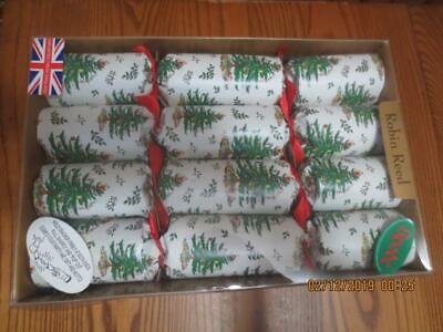 Robin Reed H8 Christmas New Year 10pc 8.5in Themed Crackers Ribbons and Holly