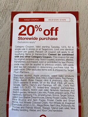 Target 20% Off Coupon - Valid 12/3/19-12/14/19 Online and In Store