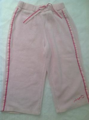 Pink Velor Pineapple Girls Tracksuit Bottoms Trousers 12-18mths