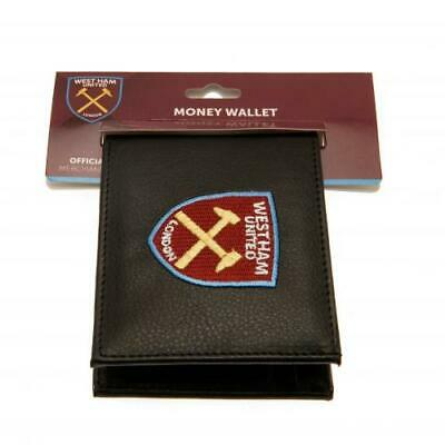 West Ham United F.C. Embroidered Black PU Wallet Official WHU Club Merchandise