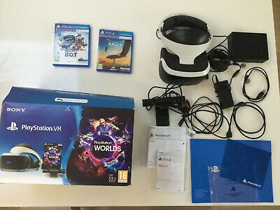 Sony PlayStation VR Version 2 Starter Pack Complete With Camera And 2 Games
