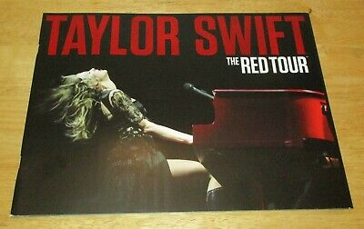 """The Red Tour Book by Taylor Swift Concert Tour Book + Poster 9"""" x 12"""" NEW"""