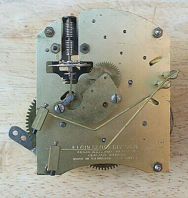 Unusual Elgin Clock Movement with Ting / Tang Strike   ( SMITHS )