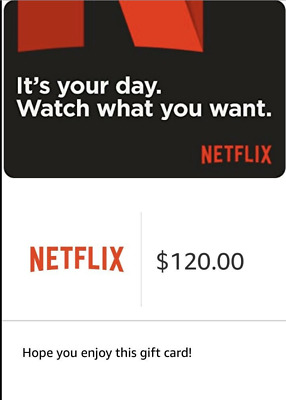 $120 Netflix Gift Code - Ships Quickly!