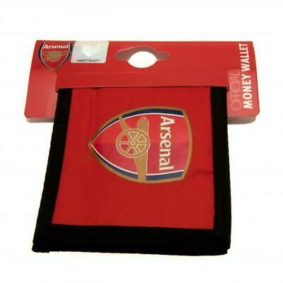 Arsenal F.C. Red & Black Canvas Wallet -  Official AFC Merchandise