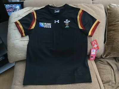 Under Armour Wales Rugby Union World Cup 2015 Away Shirt Size Small New With Tag