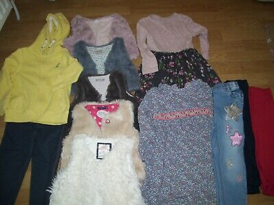 Large girls bundle of winter clothing.Age 3-4 yrs.Waistcoats,tops,hoodie,dresses