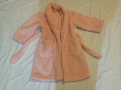 pink fluffy dressing gown, Age 3-4