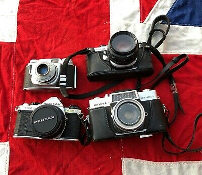 Vintage 35mm cameras job lot