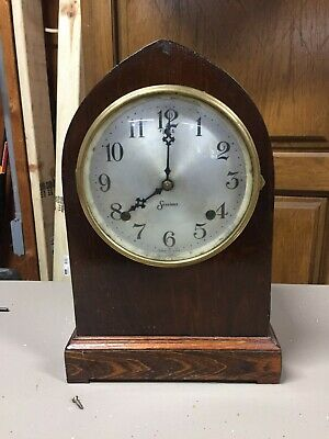 Antique Sessions beehive 8 day time and strike clock with half hour bell