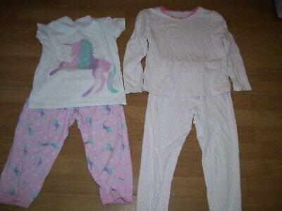 Girls bundle of  two pairs of pyjamas. Age 9/10 years.George and B&M.
