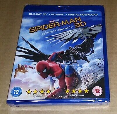 Spider-Man  Homecoming (Blu-ray 3D + 2D) Marvel
