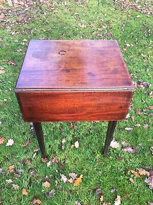 Mahogany Side table Extendable Vintage Victorian Two Drawers Good Condition Orig